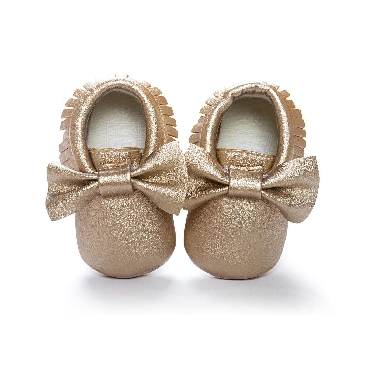 Baby Shoes Pram Girls Princess Moccasins Soft