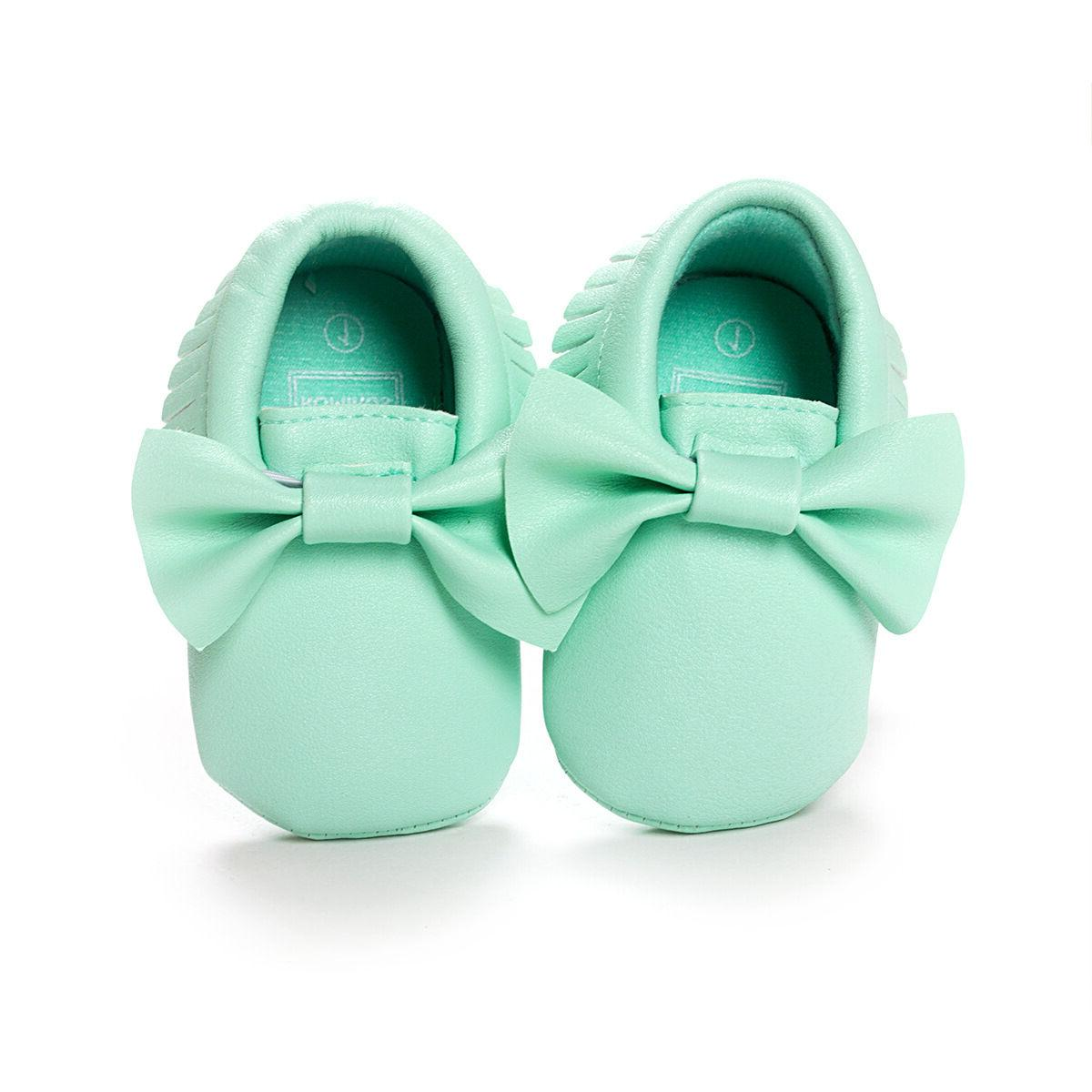 Baby Pram Mary Jane Girls Princess Moccasins Moccs