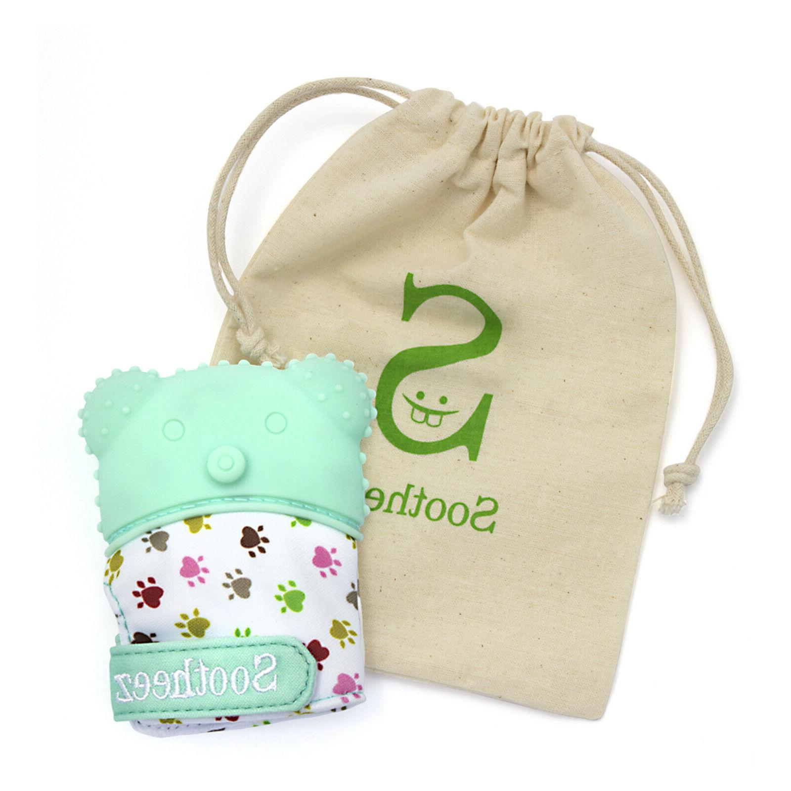 baby teether mitten toys for pain relief