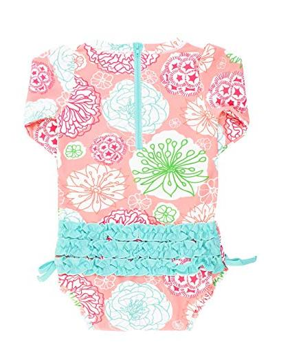 RuffleButts Baby/Toddler Sleeve - Tropical with UPF Sun Protection