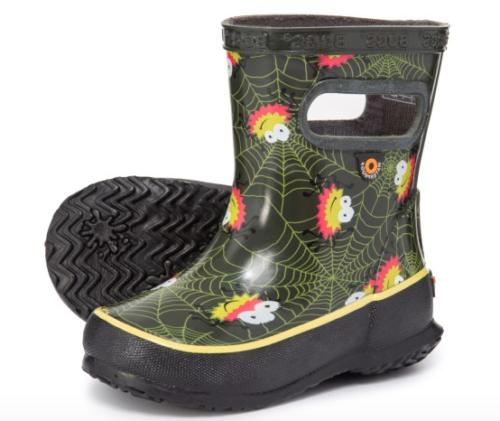 baby toddler rubber rain boots skipper spider