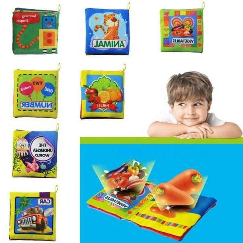 Baby Toys 0-12 Months Intelligence Development Cloth Book So