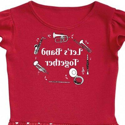 Inktastic Band Text Dress Musical Instruments