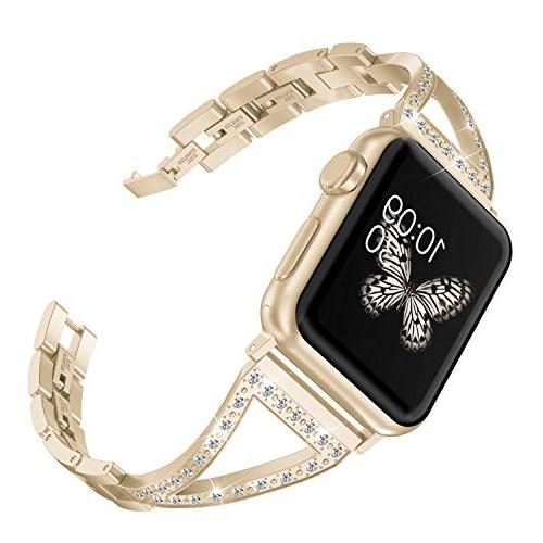 bling compatible apple watch band 42mm 44mm