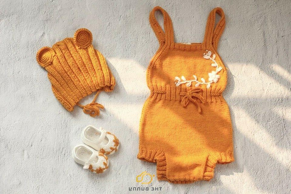 body suit baby girls knitting pants baby