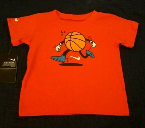 Nike Size 12 & Shorts Orange & Basketball