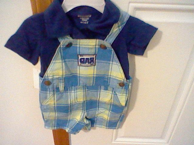 BRAND INFANT SIZE 12 SHORTALL OUTFIT