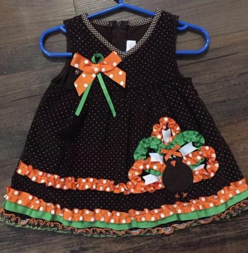 Bonnie Turkey Polka Dress 12 New