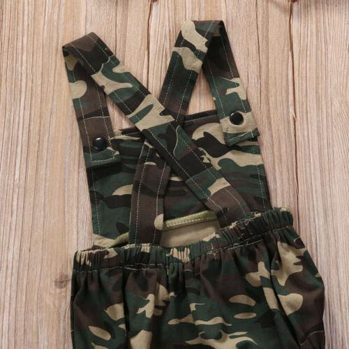 Camouflage Baby Girl Clothes Sunsuit