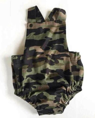 Camouflage Newborn Girl Jumpsuit Summer Clothes