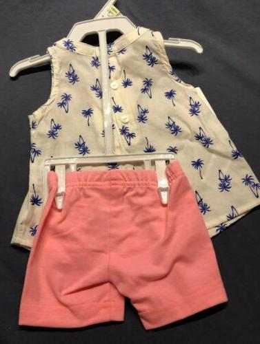 CARTER'S pc 12 months Shorts Palm