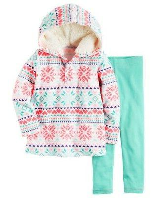 carter s baby girl fleece white snowflake