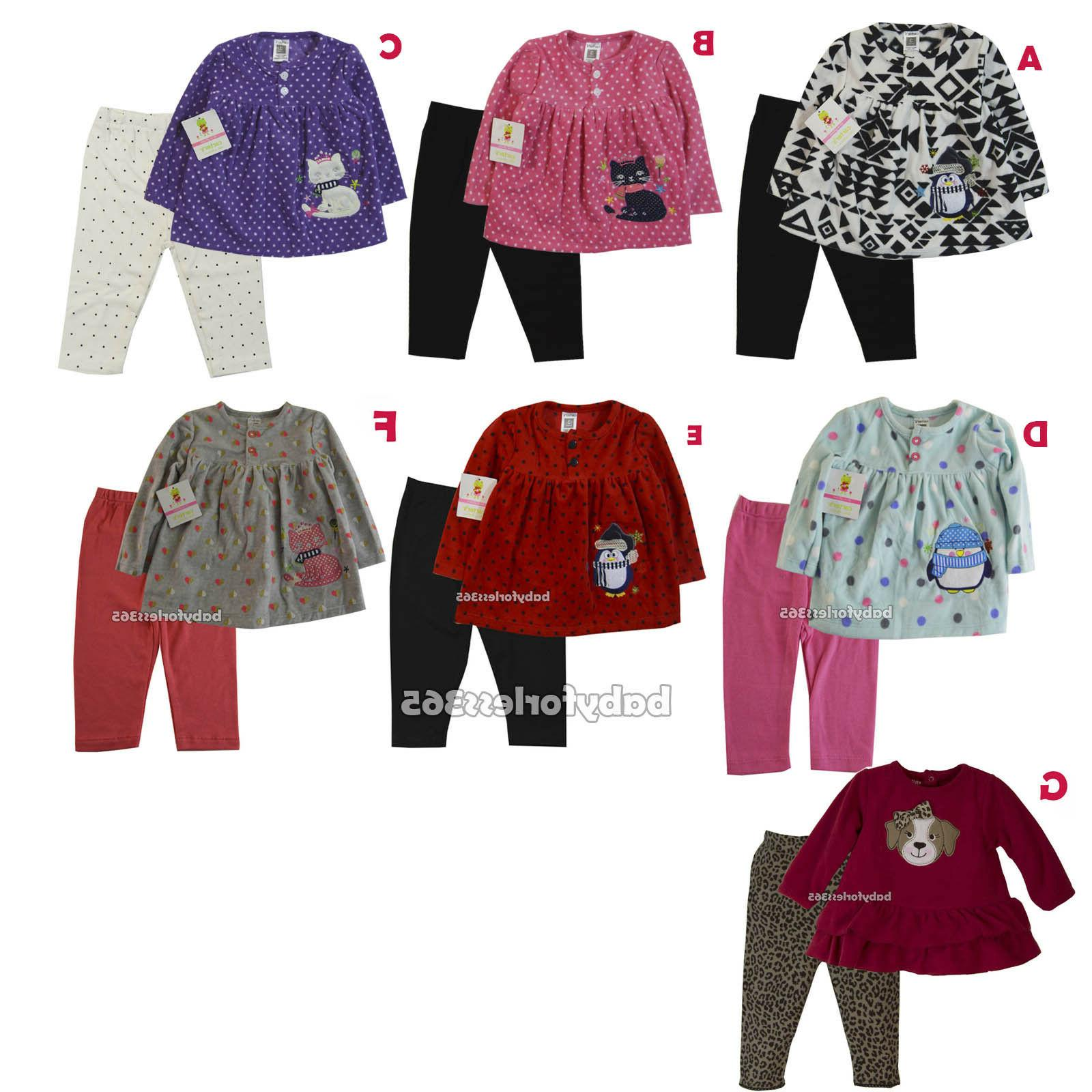 carter s baby girl long sleeve fleece
