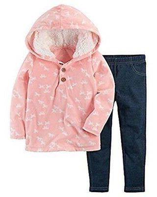 carter s baby girl pink fleece horse