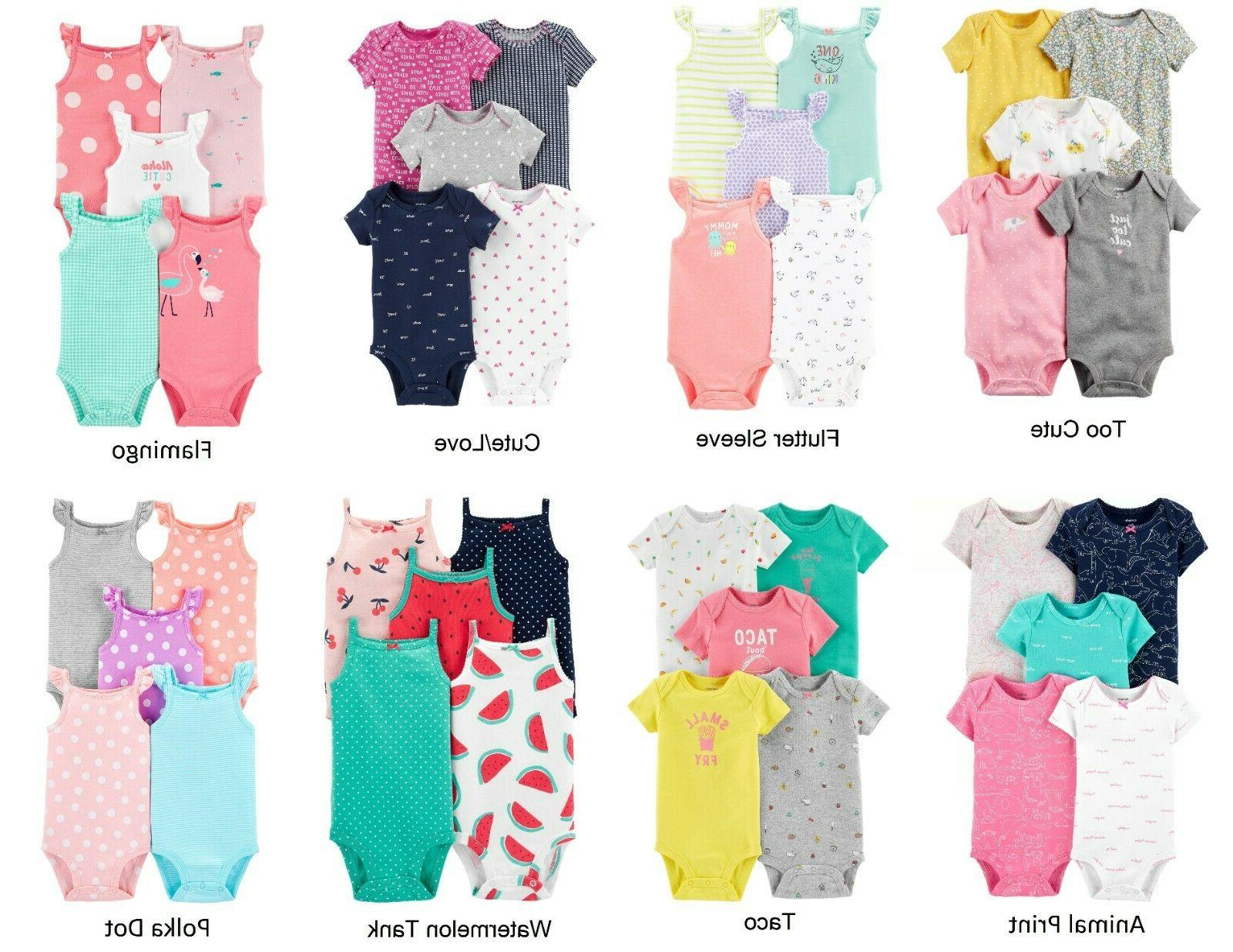 carter s girls 5 pack bodysuit sets