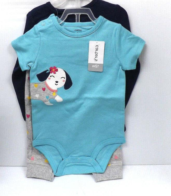 Carters Baby Girls' 3 Piece Set 12 months New with Tags