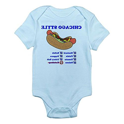 chicago style hotdog body suit cute infant