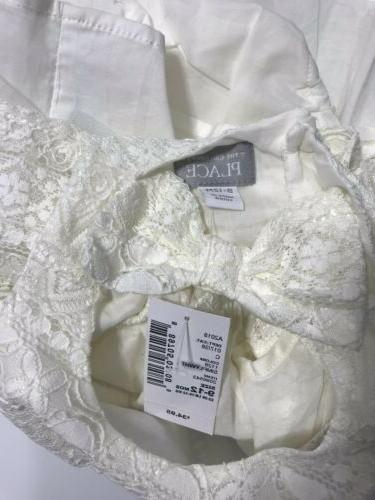 Childrens Dress 12 Ivory Lace Shortsleeve Easter