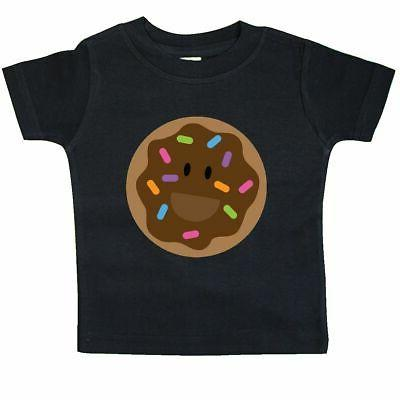 Inktastic Chocolate Doughnut Baby T-Shirt Donut Smiling Cute