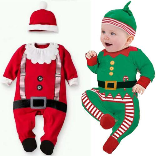 Christmas Newborn Baby Girl Xmas Bodysuit
