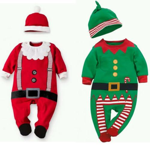 Christmas Boys Girl Xmas Clothes Bodysuit