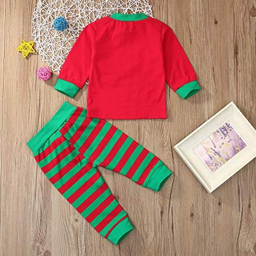 Christmas for Baby Boys Grils Sister Match Top Pants Set )