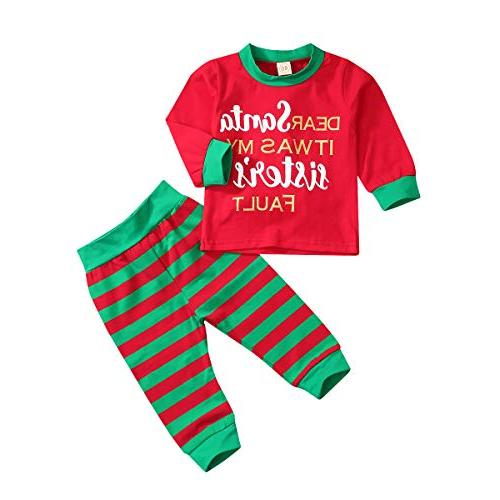 christmas outfit for baby boys grils sister
