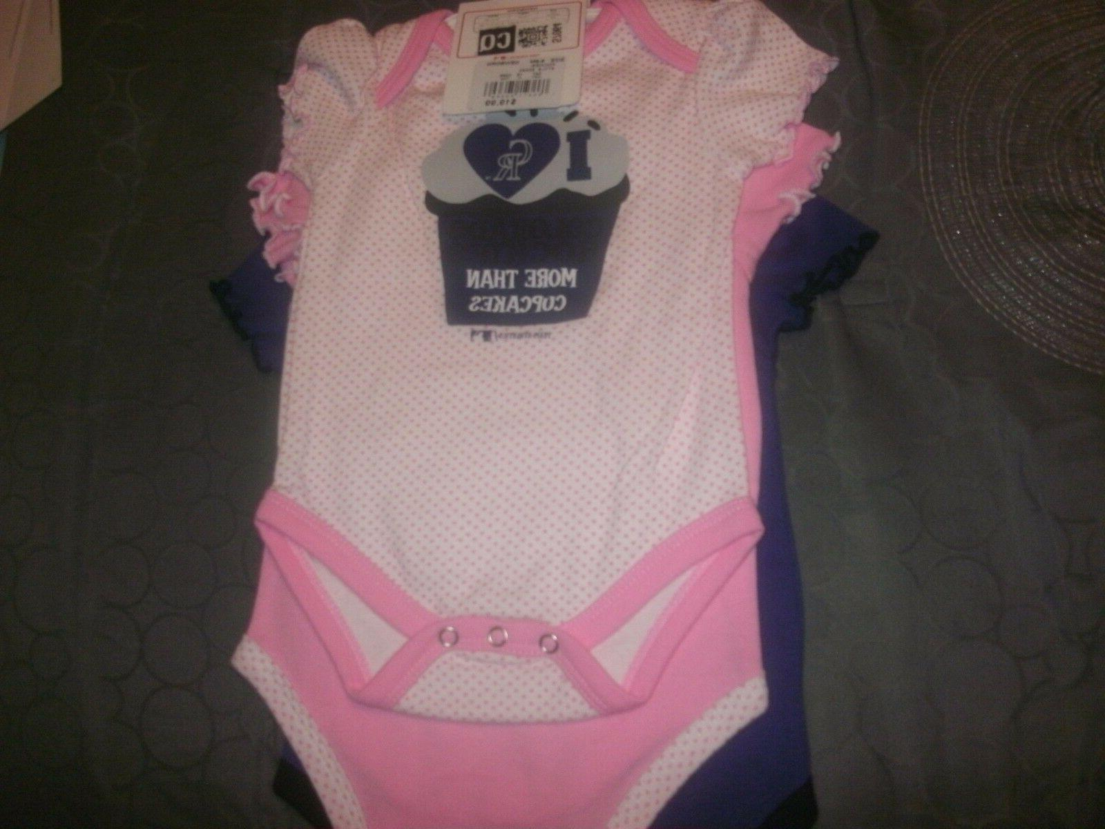 Colorado Rockies Girls Triple Play 3-Piece Bodysuit Set 12 m