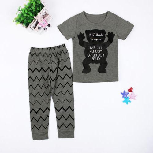 Cotton Newborn Monster Pants Clothes Set