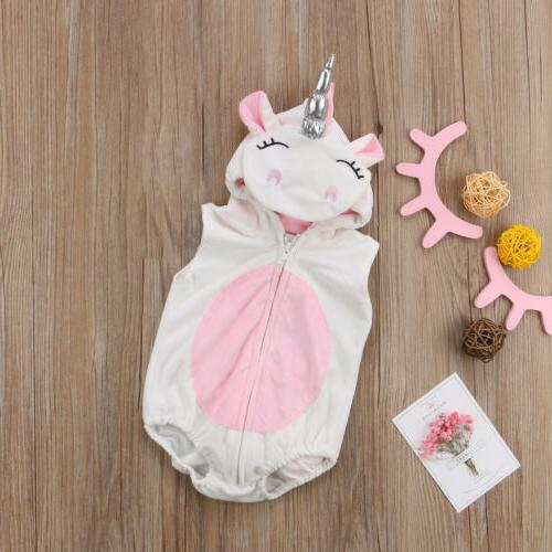 Cute Unicorn Costume Jumpsuit Outfits Clothes