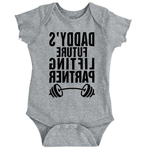 daddys future lifting partner athletic baby romper