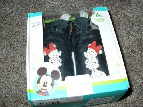 disney baby girls minnie mouse shoes black
