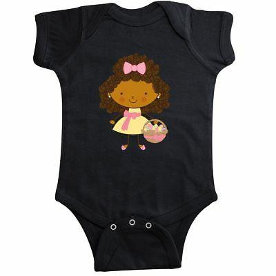 easter african american girl infant creeper spring