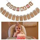 "Baby First Birthday Decorations Banner""I AM ONE""and 1-12"