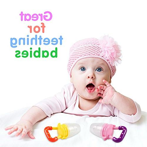 Baby Food - Tinabless Fresh Fruit Feeder Teething Pacifier Strap Infant, Kids,
