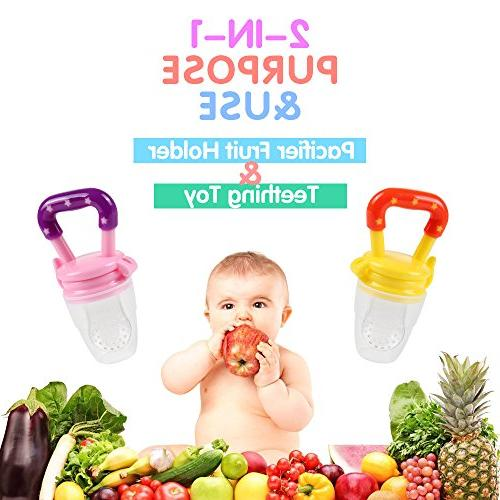 Baby Tinabless Fresh Fruit Feeder Toys Pacifier Clip Strap Infant, L