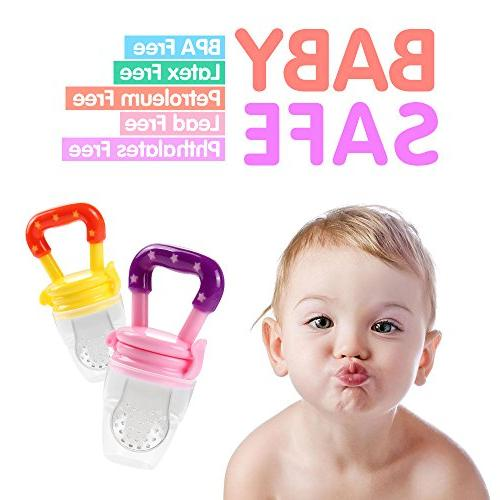 Baby Tinabless Feeder Teething Toys with Pacifier Infant, Kids, Toddlers L