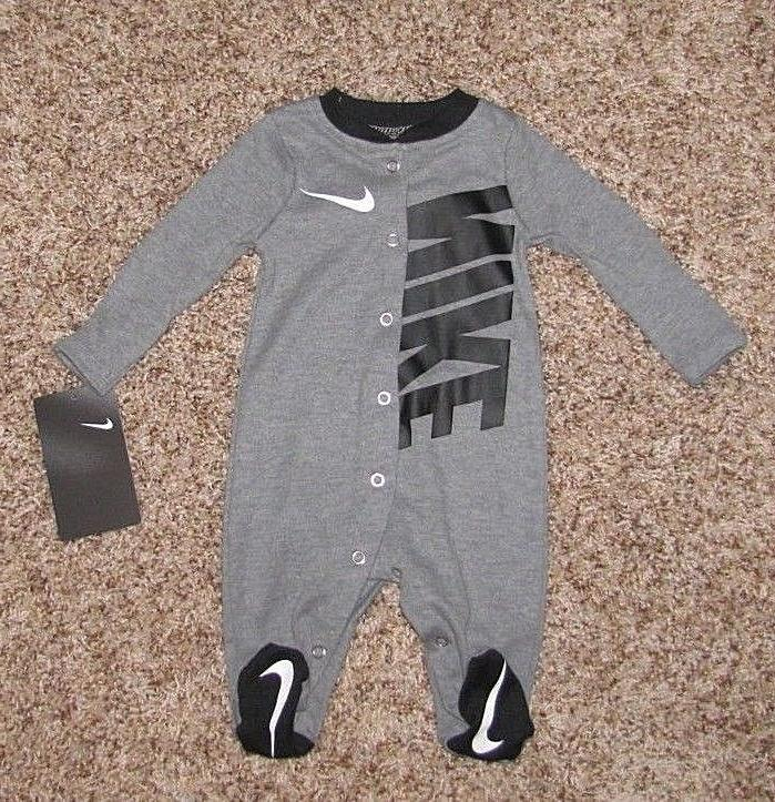 NIKE Futura Footed Coverall Baby Infant 3 6 9 Girls Pajama