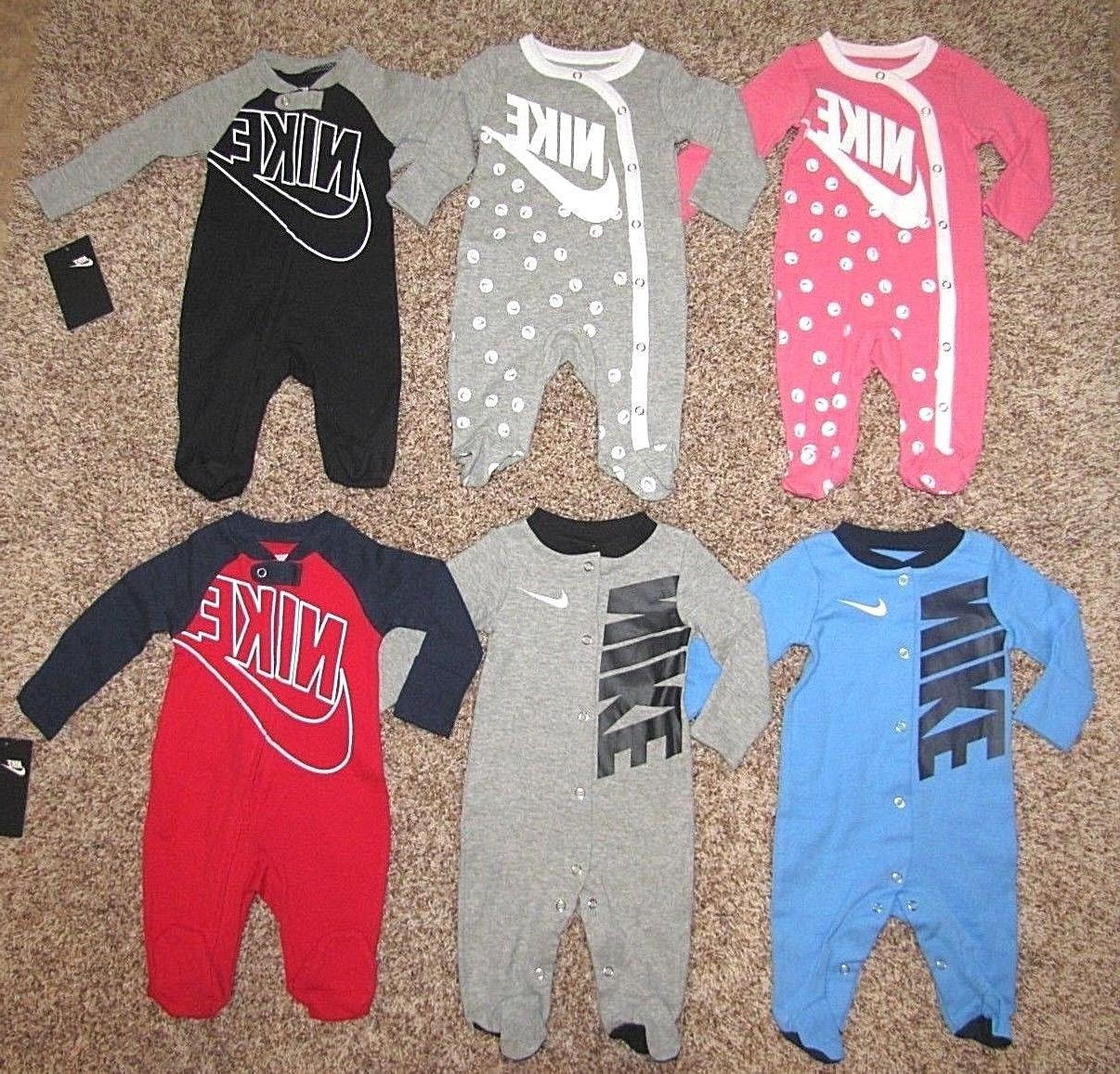 NIKE Futura Footed Coverall Baby Infant Newborn 3 6 Girls Pajama