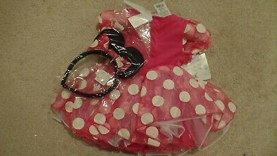 Girl's, Infant, Minnie Mouse Costume, 6-12 NWT