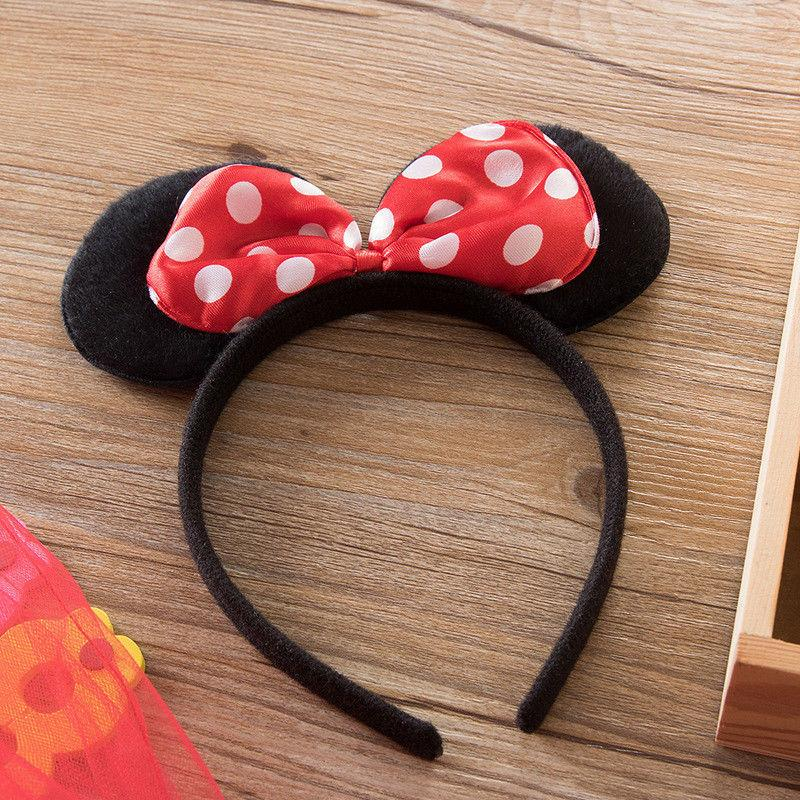Girls 1st Mouse Dots Party Headband