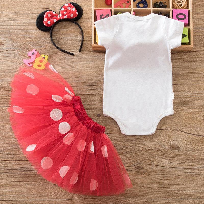 Girls 1st Minnie Mouse Bow Dots