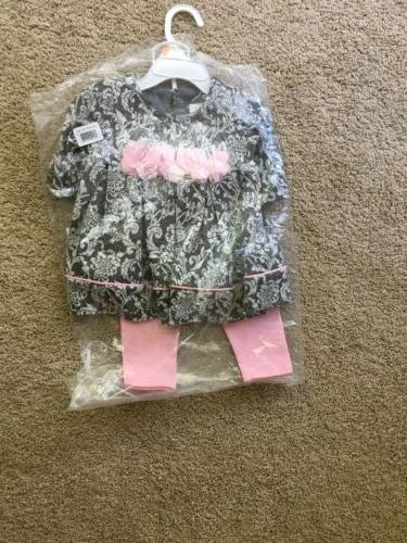 Bonnie Baby Girls Outfit 12 Months