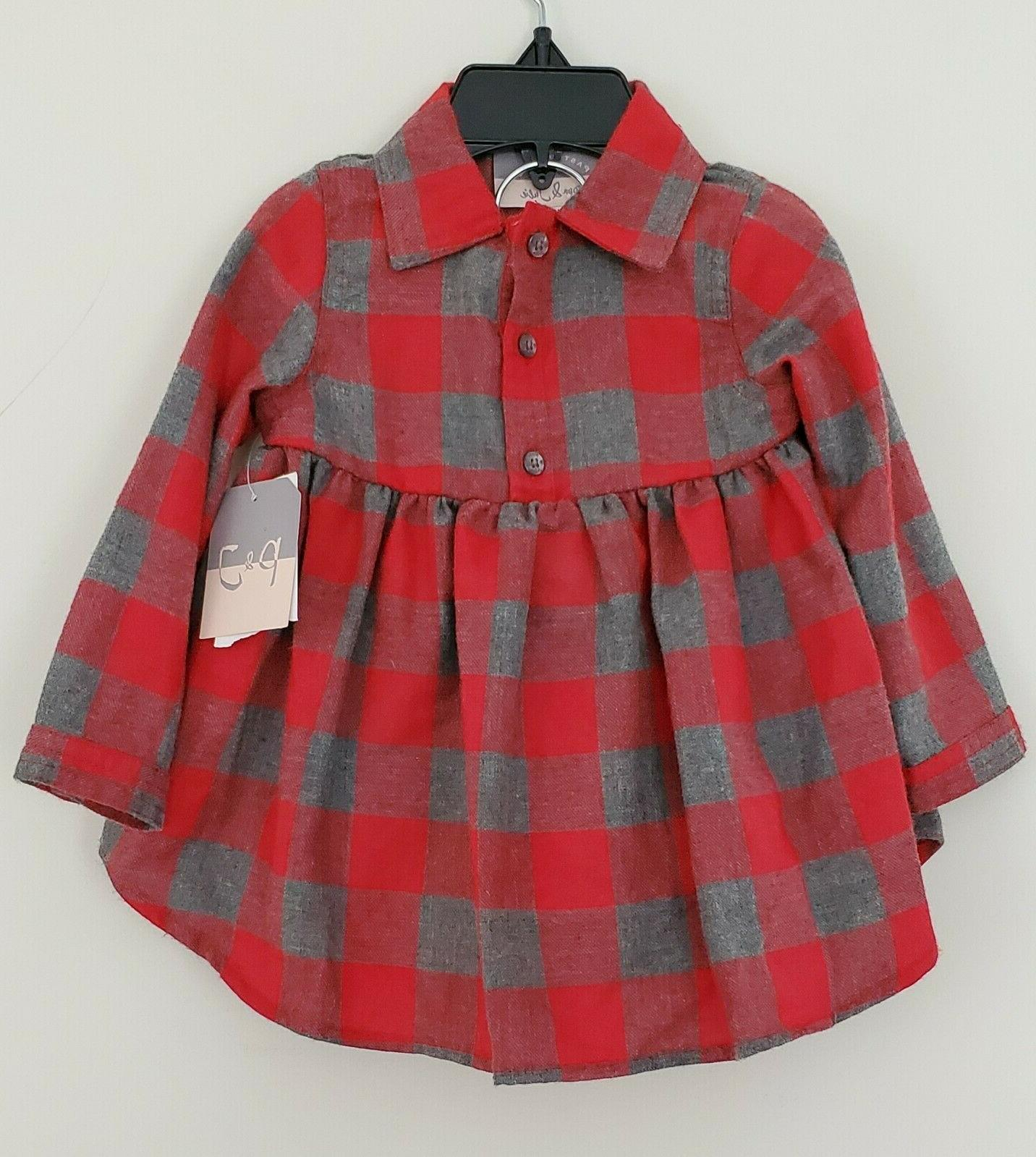 Girls Julie & Check Dress/Bloomers Size Mo. NWT!