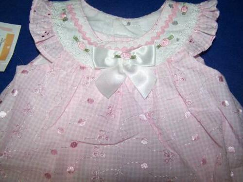 Bonnie Baby Girls Pink dress tags 12 months