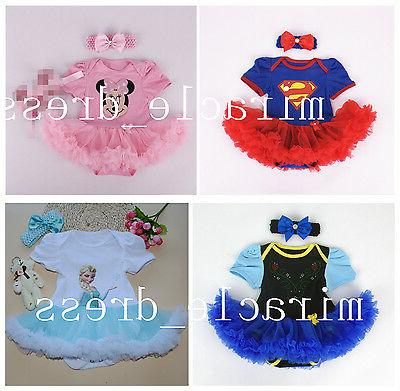 GIRLS TODDLER PRINCESS FANCY DRESS UP COSTUME BIRTHDAY Hairb