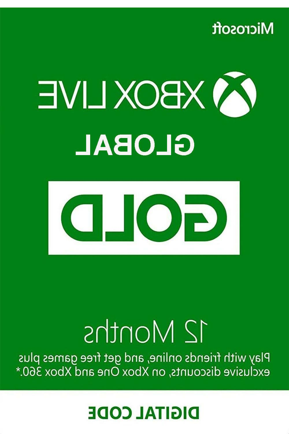 global xbox live gold 12 months xbox