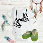 Hockey Skates Outfit Onsies & Green Shoes Best Baby Shower G