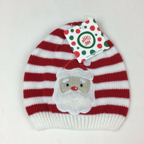 holiday santa red white striped knit winter