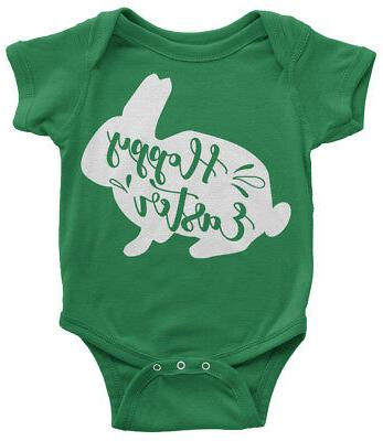 hoppy easter bunny infant bodysuit cute happy